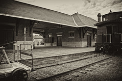 Vintage Platform (cjh44) Tags: ontario station platform smithsfalls tonedphoto railroadmuseumofeasternontario