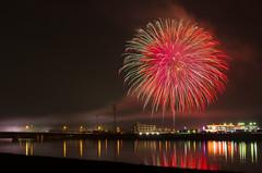 Fireworks at Onga-town summer festival (taroimo / ) Tags: fireworks fukuoka a16 onga k5s