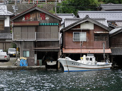 Boat Houses (Nicote) Tags: houses sea mountains water make japan found for this bay boat with unique space garage great hard like running scene can it whole where strip shore edge use be mooring land around ine changes picturesque beneath 230 developed narrow tidal along find such built between maximum matched locality funaya