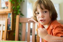 LEA_4062 (luke_amorelli) Tags: food baby house cute home field 35mm children prime eyes aperture nikon toddler babies dof bright bokeh eating messy fixed length depth lightroom focal d7100