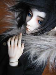 Yume (yelian yaoki) Tags: chile blue black fashion ball hair design eyes doll sd jacket lance bjd resin custom 13 articulated jointed 62cm yaoki crobidoll yelian