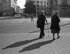 Elikon 35S - Sunday Street Stroll 1 (Kojotisko) Tags: street city people streets vintage person czech streetphotography brno cc creativecommons vintagecamera czechrepublic streetphoto persons fomapan100 elikon elikon35c elikon35s elikon35