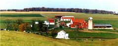 Neighborhood Farm (archived) (Dino Langis) Tags: landscapes panoramas farms newgoldenseal