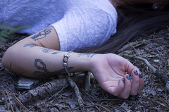 Ink. (lauratintori) Tags: wood portrait woman color colour girl tattoo female photography photo model woods nikon hand photoshoot mail details picture pic tattoos nails femalemodel dettagli ph harm photoshoots photoset d5100 nikond5100 lauratintoriph laurarollo