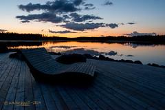 Rest at Twilight (Wade.J.) Tags: park sunset sky lake newfoundland evening twilight pond nikon dusk wade tamron rotary d800 gander cobbs tamron2825