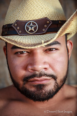 IMG_6792 (DesertHeatImages) Tags: gay arizona phoenix hat cowboy bare chest rico lgbt latino hispanic