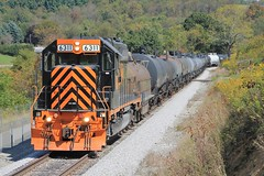 WE643, Cowden's Farm (W&LE45) Tags: railroad train railway trains rook westland sd402 tankcars sd40 sd403 wle rookyard wheelinglakeerie wheelinglakeerierailway rooksubdivision westlandbranch