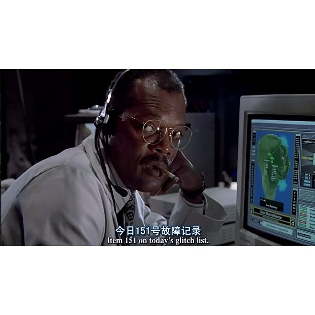 原來弗瑞是在侏羅紀公園失業之後才跑去神盾局做局長的~ (現在我知道你的眼睛是怎麼回事了XD) #JurassicPark#SamuelJackson