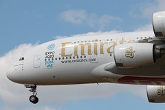 A6-EEA Airbus A380-861 Emirates close up (R.K.C. Photography) Tags: uk england london closeup aircraft emirates airbus a380 lhr airliners egll londonheathrowairport a380861 canoneos1100d a6eea