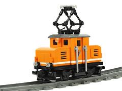 "WIP E69 05 ""Orange"" (de-marco) Tags: city railroad town lego wip latvia locomotive shunter latvija latlug"