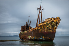 shipwreck.. (ckollias) Tags: abandoned chance coastline greece gytheio gythio nature nauticalvessel old outdoors rusty sea ship ships shipwreck shipwreckbeach sky water wreck