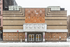 The Joyce (skingld) Tags: daytime winter winterstorm cloudysky snowstorm day overcast snow chelsea joycetheater nyc newyorkcity street architecture marquee facade theater manhattan snowing artmoderne
