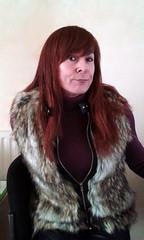 Faux fur body warmer (Tonimacphee) Tags: fur body warmer gillet jacket redhead ginger toni macphee