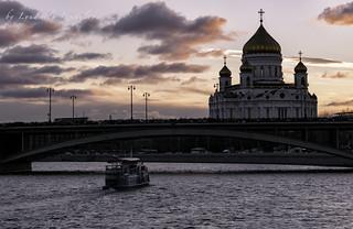 Big Stone Bridge and Christ the Savior Cathedral