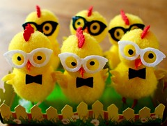Cool chicks..HWW and HEoM : o ) (Kez West) Tags: hww easter wingwednesday heom eyesofmarch cute yellow glasses wings six 6 fun bright march chooks chicks spring