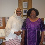 AASP (Association of African Studies Programs) 2013, Dr. Barro (outgoing Chair) and Dr. Louise Badiane (current Treasurer)