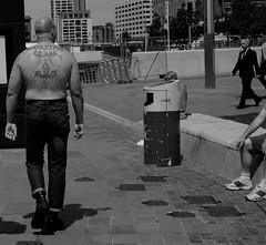 working class ! (Raymond Paul - SP) Tags: people blackandwhite bw tattoo 35mm mono candid pierhead skinhead streetshot urbanlife workingclass merseyside inthecity englanduk thisisengland lifeinblackandwhite liverpoollife raymondpaul streetsofliverpool streetphotographyliverpool fujixcamera thisisliverpool fujixe2