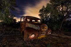 El Paso del tiempo (raul_lg) Tags: sky clouds canon stars noche spain cielo nubes estrellas nocturna camioneta abandonado mark3 largaexposicion nightlongexposure raullopez canon1635 canon5dmarkiii raullg