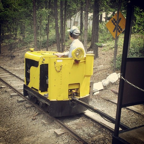 Lokies are diesel-powered locomotives that can haul several cars of ore. This one runs tours for fun #yxy #copperbelt #museum #Yukon