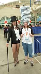 Zatanna  and Shark Tornado Lady - SDCC 2013 (Cutterin) Tags: dc cosplay adamhughes zatanna sdcc2013 sandiegocomiccon2013 cutterin dreamhats sharktornadolady