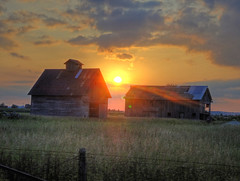 A Sunday Sunrise (kendoman26) Tags: sky sun barn sunrise farm farmland crib hdr sonycybershot photomatix grundycountyillinois sonyh55 sonycybershoth55