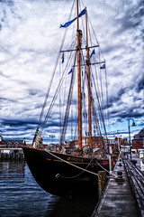 Virginia In New London (joegeraci364) Tags: ocean wood sea color art nature water beauty weather sport print outdoors photography virginia boat photo marine ship image action yacht antique vessel maritime sail nautical schooner sailoat