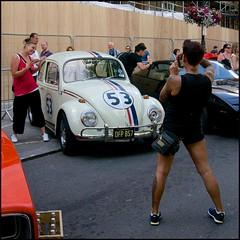 Herbie - DSC05674a (normko) Tags: london love film car vw bug volkswagen movie square tv automobile beetle trafalgar 53