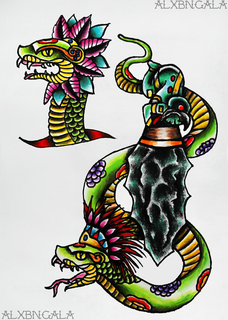 The World's Best Photos of quetzalcoatl and tattoo ...  The World's...