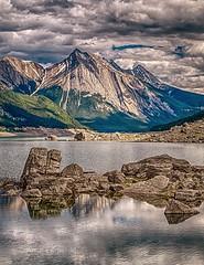 Medicine Lake, Jasper National Park, Alberta, Canada (Artvet) Tags: summer lake canada mountains nature water clouds america rockies alberta jaspernationalpark medicinelake