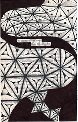 up to bed (Jo in NZ) Tags: blackandwhite drawing foundtext foundpoetry zentangle nzjo zendoodle