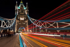 Tower Bridge at night, London (stephanrudolph) Tags: uk bridge england london night wow nikon europa europe wideangle gb handheld lighttrails uwa d700 1424mm 1424mmf28g saariysqualitypictures