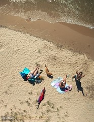 I'm Back! (Juan N Only) Tags: summer people dog lake beach outdoor michigan july lakemichigan kap straightdown aerialphotography kiteaerialphotography onekama 2014 chdk juannonly