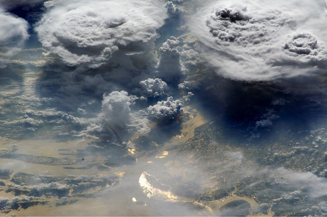 Archive: Monsoon Clouds Over Bangladesh (Archive: NASA, International Space Station, 06/03/02)