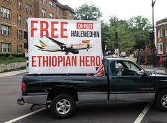 Ethiopian diaspora politics on a truck (futureatlas.com) Tags: africa truck dc washington politics crime terrorism ethiopia diaspora ethiopian hijacking hijacker