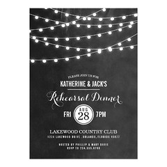 Summer String Lights Rehearsal Dinner Invitation (nunon_nonnon) Tags: summer dinner lights rehearsal invitation string
