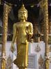 Beautiful gold Buddha in a walking pose (shankar s.) Tags: thailand southeastasia buddha buddhism chiangmai wat highstreet buddhisttemple norththailand buddhistshrine watbuppharam buddhistreligion chiangmaistreet buddhistfaith chiangmaitraffic downtownchiangmai