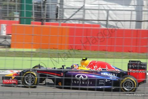 Daniel Ricciardo in qualifying for the 2014 German Grand Prix