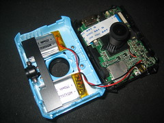Inside an iShare S200 (Iwan Gabovitch) Tags: camera wire open device wires electronics inside pcb cheap batteries madeinchina opened disassembled hdcamera usbdevice aliexpress printcircuitboard