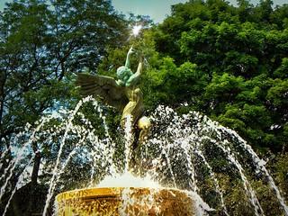 Elmira Ny ~ McGraw Water Fountain ~ Elmira College ~  Historic Campus