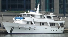 Absolute Pleasure @ Canary Wharf 08-08-14 (AJBC_1) Tags: uk england london unitedkingdom canarywharf luxuryyacht absolutepleasure westindiadock ajc ajc