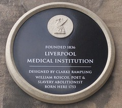 "City of Liverpool Heritage Plaque Medical Institution • <a style=""font-size:0.8em;"" href=""http://www.flickr.com/photos/9840291@N03/14859483523/"" target=""_blank"">View on Flickr</a>"