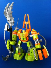 Mine Mech with weapon (Hen Peril) Tags: monster rock king power lego crystal hard suit miner mech moc