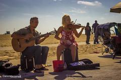 #-9305 (canonbrownell) Tags: california street venice summer music playing guy beach girl la los angeles guitar santamonica performance performing violin tips boardwalk performer
