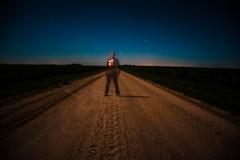 Look Through Me (Erin_Takes_Pictures) Tags: road moon selfportrait field night dark stars landscape shower corn nebraska long exposure horizon full lincoln meteor gravel perseids