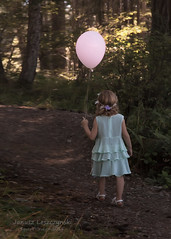 Please follow me  - Kirsten and Colin Wedding Aug 3 2014 (janusz l) Tags: pink wedding flower cute girl colin kid dress please balloon kirsten followme janusz leszczynski