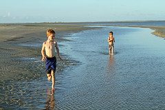 dunewater (babyfella2007) Tags: ocean park boy sunset shadow sea summer jason tree sc nature water pool grass silhouette carson walking outside island harbor sand day child natural state grant labor south tide father low dune country hunting salt young son palm frond southern maritime taylor carolina beaufort tidal oat lowcountry ridgeland batesburg