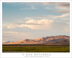 Basin and Range, Monsoon Clouds (G Dan Mitchell) Tags: ranch light sunset usa mountains clouds america print evening humboldt cattle sink nevada north stock basin monsoon license range