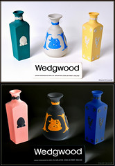 Brand Names - Wedgwood Diptych (zendt66) Tags: pink blue england orange white black sign yellow photo nikon diptych teal name assignment weekly brand inverse challenge wedgwood cobolt brandnames d90 jasperware zendt66 52weeks2014