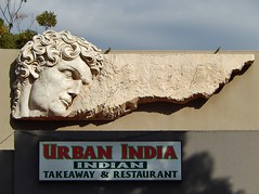 Classic Confusion (mikecogh) Tags: sign restaurant indian curls direction classical mileend pointing confusion