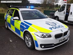Police Scotland- brand new BMW 530d Touring- Roads Policing Unit/ANPR Interceptor- SF14 NNL- on blue lights (Calum's 999 & Transport Photography) Tags: blue demo lights perth bmw touring interceptor bluelights weekold 530d anpr roadspolicingunit sf14nnl
